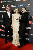 Spanish model Judit Masco with Miguel Bose (r) and her husband the lawyer Eduardo Vicente during Barcelona 5th AIDS Ceremony. November 24,2014.(ALTERPHOTOS/Acero) /NortePhoto<br />