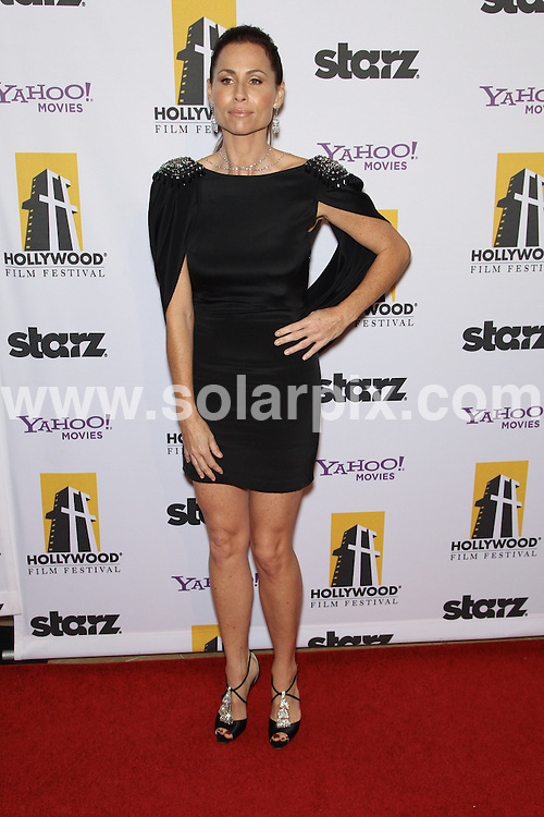 **ALL ROUND PICTURES FROM SOLARPIX.COM**                                             **SYNDICATION RIGHTS FOR UK, AUSTRALIA, DENMARK, PORTUGAL, S. AFRICA, SPAIN & DUBAI (U.A.E) & ASIA (EXCLUDING JAPAN) ONLY**                                                                                  Caption: 14th Annual Hollywood Awards Gala - Arrivals, Beverly Hilton Hotel, CA, USA, 25 October 2010.This pic: Minnie Driver                                                                                   JOB REF: 12378    PHZ hatcher  DATE: 25_10_2010                                                           **MUST CREDIT SOLARPIX.COM OR DOUBLE FEE WILL BE CHARGED**                                                                      **MUST AGREE FEE BEFORE ONLINE USAGE**                               **CALL US ON: +34 952 811 768 or LOW RATE FROM UK 0844 617 7637**