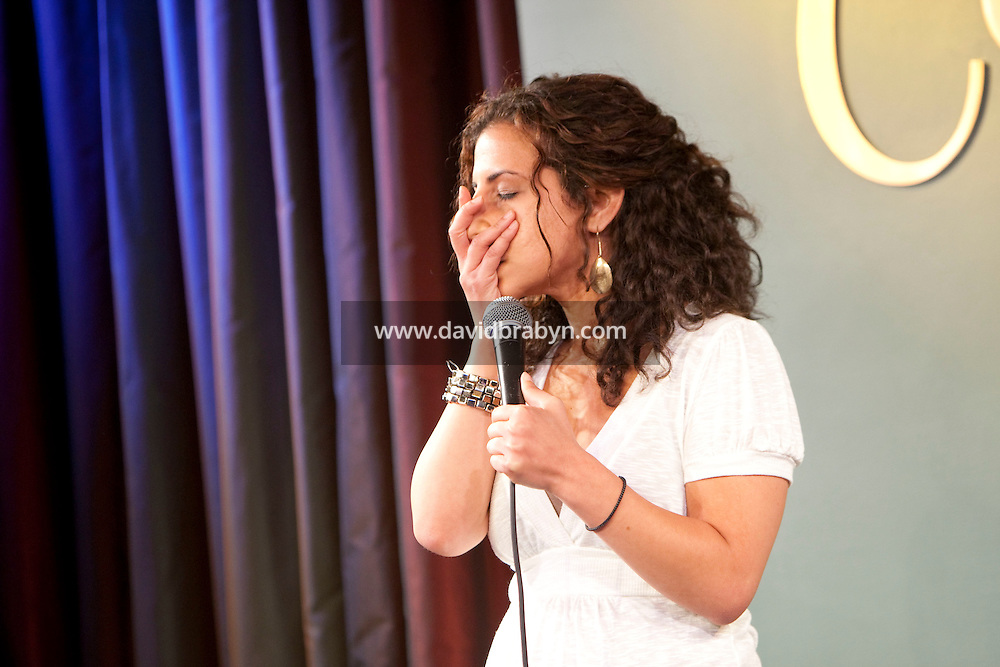 Comedian Maria Shehata performs in the 6th Annual NY Arab-American Comedy Festival in New York, USA, 13 May 2009.