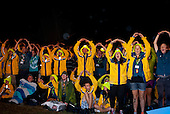 """Audience during the closing ceremony - Swedish IST doing """"Wa"""". Photo: André Jörg/Scouterna"""