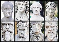 gennaio 2008, Roma, il pincio. Busti sfregiati. Slashed busts. ©Claudio Vitale