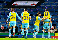 Rotherham United's Michael Smith celebrates scoring the opening goal with teammates<br /> <br /> Photographer Alex Dodd/CameraSport<br /> <br /> The EFL Sky Bet Championship - Blackburn Rovers v Rotherham United - Saturday 10th November 2018 - Ewood Park - Blackburn<br /> <br /> World Copyright &copy; 2018 CameraSport. All rights reserved. 43 Linden Ave. Countesthorpe. Leicester. England. LE8 5PG - Tel: +44 (0) 116 277 4147 - admin@camerasport.com - www.camerasport.com
