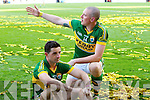 Kieran Donaghy and Aidan O'Mahony Kerry players celebrate after they defeated  Donegal in the All Ireland Senior Football Final in Croke Park Dublin on Sunday 21st September 2014.