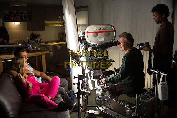 Scarlett Johansson, Joseph Gordon-Levitt <br /> on the set of Don Jon (2013) <br /> *Filmstill - Editorial Use Only*<br /> CAP/NFS<br /> Image supplied by Capital Pictures