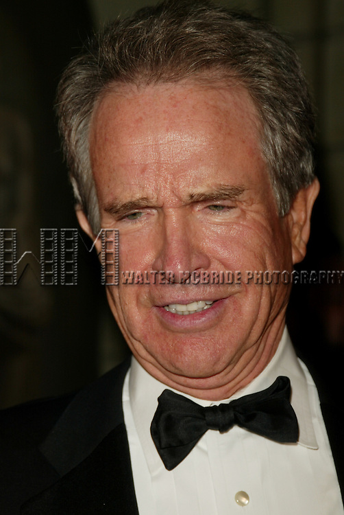 Warren Beatty.Attending the STELLA by STARLIGHT black tie gala .celebrating the legacy of Stella Adler and the presentation of the 2004 Stella Adler Studio of Acting Awards. The evening was held at the Grand Ballroom in the Pierre Hotel in New York City..November 8, 2004.© Walter McBride /