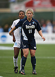 3 December 2006: Notre Dame's Michele Weissenhofer (11) and North Carolina's Nikki Washington (26). The University of North Carolina Tarheels defeated the University of Notre Dame Fighting Irish 2-1 at SAS Stadium in Cary, North Carolina in the NCAA Division I Women's College Cup championship game.