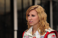 Jan 23, 2009; Chandler, AZ, USA; NHRA driver Courtney Force during testing at the National Time Trials at Firebird International Raceway. Mandatory Credit: Mark J. Rebilas-