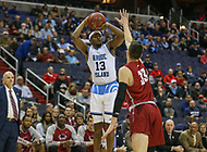 Washington, DC - March 10, 2018: Rhode Island Rams guard Stanford Robinson (13) attempts a shot during the Atlantic 10 semi final game between Saint Joseph's and Rhode Island at  Capital One Arena in Washington, DC.   (Photo by Elliott Brown/Media Images International)