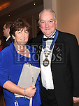 Chairperson of Ardee Traders association John Caffrey and his wife Nuala pictured at the Ardee Traders annual awards night in the Nuremore Hotel. Photo:Colin Bell/pressphotos.ie