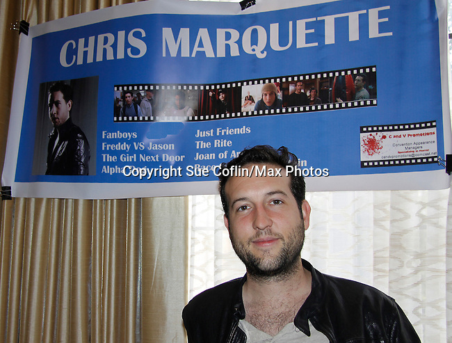 """Chris Marquette (Another World) """"Gregory John Hudson""""  appears at 25th Anniversary of Chiller Theatre on October 25, 2015 at Sheraton Hotel, Parsippany, NJ. (Photo by Sue Coflin/Max Photos)"""