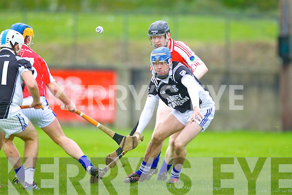 Qwen McCarthy Saint Brendans in Action against Kevin Cosgrove Ballina in the Munster Intermediate Club Semi-Final at Nenagh on Sunday.