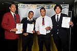 Boys Rugby Union Finalists Liakimatangi, Elijah Falealii, Joseph Tupe & Steven Luatua.  ASB College Sport Young Sportperson of the Year Awards 2008 held at Eden Park, Auckland, on Thursday November 13th, 2008.
