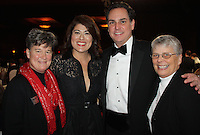 STAFF PHOTO CARIN SCHOPPMEYER Sister Lisa Atkins, from left, Elda and Eric Scott and Sister Anita DeSalvo visit at O NIght Divine.