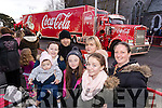 Maci Gleeson, Mary Flynn, Stefan Gleeson, Hayley Flynn, Mairead Sommers, Casey and Lisa O'Connor, all from Listowel, pictured at the Coca Cola Truck in Listowel on Sunday last.