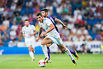 Theo Hernandez (l) of Real Madrid fights for the ball with Marco Benassi of ACF Fiorentina during the Santiago Bernabeu Trophy 2017 match between Real Madrid and ACF Fiorentina at the Santiago Bernabeu Stadium on 23 August 2017 in Madrid, Spain. Photo by Diego Gonzalez / Power Sport Images