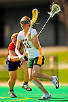 25 April 2009: University of Vermont Catamount midfielder Kristen Millar, a Senior from Whitby, Ontario, in action against the Stony Brook University Seawolves at Moulton Winder Field in Burlington, Vermont. The Lady Cats defeated the visiting Seawolves 19-11 on Seniors Day, Vermont's last home game of the 2009 season. Mandatory Photo Credit: Ed Wolfstein Photo