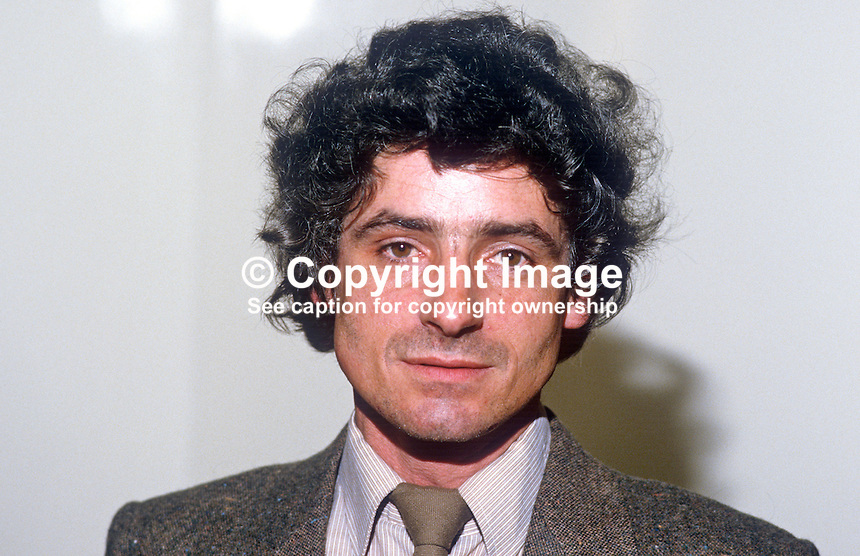 Bobby Lavery, councillor, Provisional Sinn Fein, Belfast, N Ireland, 1980507BL2<br />