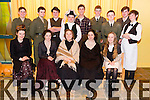 Pictured Front l-r Marie Courtney, Ciara McCarthy, Alisha Finnerty, Clodagh Harrington, Tracy O'Keeffe.  Back l-r Diarmuid Barry, Billy Donovan, Ciaran Ryan, Andrew Breewood, Luke Ryan, Donnagh Broderick, Christian Keane, Eamonn Maher, Cillian O'Regan the Cast of Mounthawk Secondary School production of  Plough and the Stars at their Dress rehearsal  on Monday.The Play taking place in Siamsa Tire January 29th-31st. All performances start at 8pm