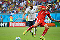 (L to R) <br /> Karim Benzema (FRA), <br /> Valon Behrami (SUI), <br /> JUNE 20, 2014 - Football /Soccer : <br /> 2014 FIFA World Cup Brazil <br /> Group Match -Group E- <br /> between Switzerland 2-5 France <br /> at Arena Fonte Nova, Salvador, Brazil. <br /> (Photo by YUTAKA/AFLO SPORT) [1040]