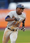 3 April 2006: Alfonso Soriano, outfielder for the Washington Nationals, hustles on the basepath during Opening Day play against the New York Mets at Shea Stadium, in Flushing, New York. The Mets defeated the Nationals 3-2 to lead off the 2006 MLB season...Mandatory Photo Credit: Ed Wolfstein Photo..