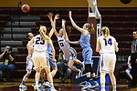 GRAND RAPIDS, MI - MARCH 18: Meredith Doswell (13) of Amherst College loses control of the ball during the Division III Women's Basketball Championship held at Van Noord Arena on March 18, 2017 in Grand Rapids, Michigan. Amherst defeated 52-29 for the national title. (Photo by Brady Kenniston/NCAA Photos via Getty Images)