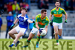 Daniel Daly South Kerry in action against Ryan Kerins O'Rahillys in the Kerry Senior Football Championship Semi Final at Fitzgerald Stadium on Saturday.