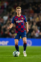 29th October 2019; Camp Nou, Barcelona, Catalonia, Spain; La Liga Football, Barcelona versus Real Valladolid; Frenkie de Jong during La Liga match against Valladolid
