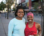 Shannon Gallimore and Tiffany Chenault during the Downtown River Run on Sunday, April 30, 2017 in Reno, Nevada.
