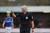 Referee Charles Breakspear during Crawley Town vs Oldham Athletic, Sky Bet EFL League 2 Football at Broadfield Stadium on 7th March 2020