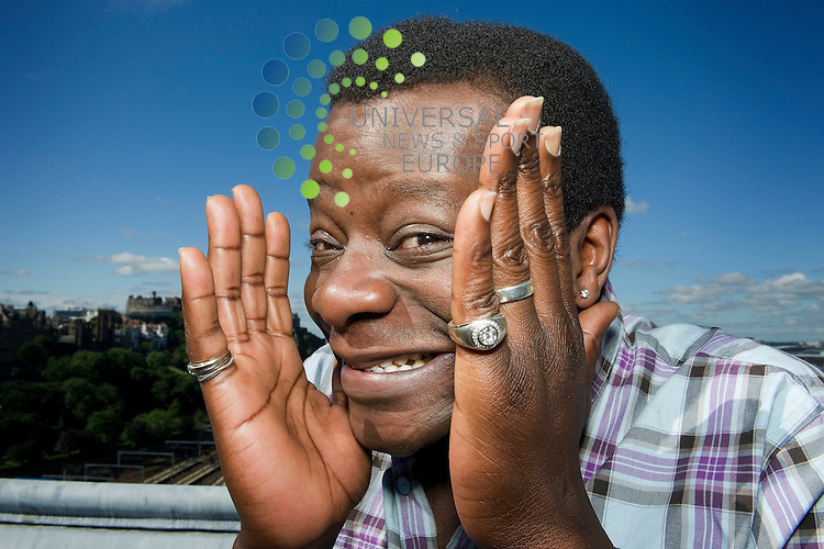 Comedian Stephen K Amos on the roof of the Balmoral Hotel for the launch of the Foodies Festival, 7th August, 2012.Picture:Scott Taylor Universal News And Sport (Europe) .All pictures must be credited to www.universalnewsandsport.com. (Office)0844 884 51 22.