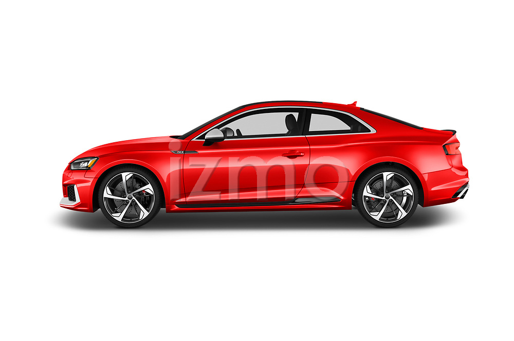 Car driver side profile view of a 2019 Audi RS5 4WD 2 Door Coupe