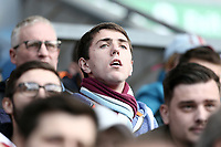 Burnley fans anxiously watch the second half action<br /> <br /> Photographer Rich Linley/CameraSport<br /> <br /> The Premier League - Burnley v Huddersfield Town - Saturday 6th October 2018 - Turf Moor - Burnley<br /> <br /> World Copyright &copy; 2018 CameraSport. All rights reserved. 43 Linden Ave. Countesthorpe. Leicester. England. LE8 5PG - Tel: +44 (0) 116 277 4147 - admin@camerasport.com - www.camerasport.com