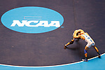 CLEVELAND, OH - MARCH 10: Carlos Fuentez, of Wheaton, left, wrestles Jay Albis, of Johnson & Wales, in the 125 weight class during the Division III Men's Wrestling Championship held at the Cleveland Public Auditorium on March 10, 2018 in Cleveland, Ohio. (Photo by Jay LaPrete/NCAA Photos via Getty Images)