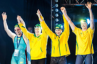 Team Australia AUS<br /> SEEBOHM Emily<br /> CAMPBELL Cate<br /> WILSON Madison<br /> ELMSLIE Brittany<br /> day 01  08-08-2017<br /> Energy For Swim<br /> Rome  08 -09  August 2017<br /> Stadio del Nuoto - Foro Italico<br /> Photo Deepbluemedia/Insidefoto