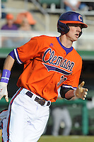Clemson Tigers Center Fielder Will Lamb during the opener of the 2011 season against the Eastern Michigan Eagles at Doug Kingsmore Stadium, Clemson, SC. Clemson won 14-3. Photo By Tony Farlow/Four Seam Images.