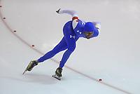 SCHAATSEN: HEERENVEEN: 14-12-2014, IJsstadion Thialf, ISU World Cup Speedskating, Shani Davis, ©foto Martin de Jong