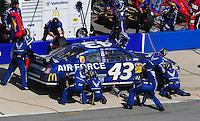 Apr 26, 2009; Talladega, AL, USA; NASCAR Sprint Cup Series driver Reed Sorenson pits during the Aarons 499 at Talladega Superspeedway. Mandatory Credit: Mark J. Rebilas-