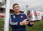 Martin Canning with Premiership manager of the month award
