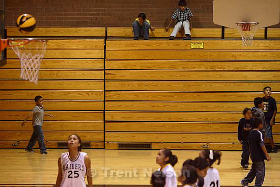 Whitehorse high school girls basketball vs. Grand.<br />
