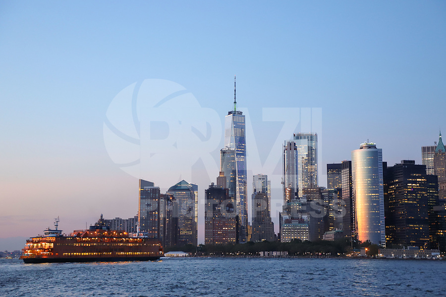 Nova York (EUA), 30/08/2019 - Turismo / Nova York - Vista da Ilha de Manhattan em Nova York nos Estados Unidos nesta sexta-feira, 30. (Foto: William Volcov/Brazil Photo Press)