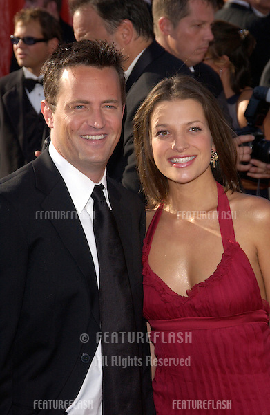 MATTHEW PERRY & girlfriend RACHEL DUNN at the 55th Annual Primetime Emmy Awards in Los Angeles..Sept 21, 2003