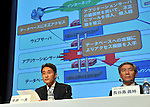 """May 1, 2011, Tokyo, Japan - Kazuo Hirai, left, of Sony Entertainment President, and Sony Corp.'s Senior Vice President Shinji Hasejima. attend a news conference at its Tokyo headquarters on Sunday, May 1, 2011. Sony apologized for a security breach in the company PlayStation Network that caused the loss of personal data of some 77 million accounts on the online service. Sony has said it has contacted U.S. Federal Bureau of Investigation to look into what the company called """"a criminal cyber attack"""" on Sony's data center in San Diego, California.(Photo by Natsuki Sakai/AFLO) [3615] -mis-"""