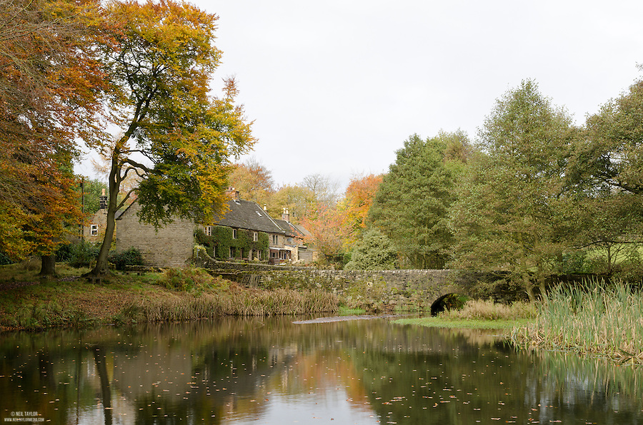 Pond Cottages at Lumsdale, Matlock in Autumn