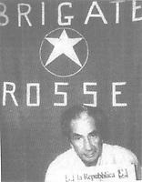 the italian politician Aldo Moro kidnapped by the Brigate Rosse (red brigade)