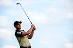 SUGAR GROVE, IL - MAY 29: Theo Humphrey of Vanderbilt University hits a wedge during the Division I Men's Golf Individual Championship held at Rich Harvest Farms on May 29, 2017 in Sugar Grove, Illinois. Humphrey tied for third place with a -6 score. (Photo by Jamie Schwaberow/NCAA Photos via Getty Images)