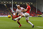 Sheffield United's Conor Sammon and Coventry's Ben Turner - Sheffield United vs Coventry City - SkyBet League One - Bramall Lane - Sheffield - 13/12/2015 Pic Philip Oldham/SportImage