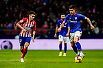 Yuri Berchiche of Athletic de Bilbao is followed by Angel Correa of Atletico de Madrid during the La Liga 2018-19 match between Atletico de Madrid and Athletic de Bilbao at Wanda Metropolitano, on November 10 2018 in Madrid, Spain. Photo by Diego Gouto / Power Sport Images