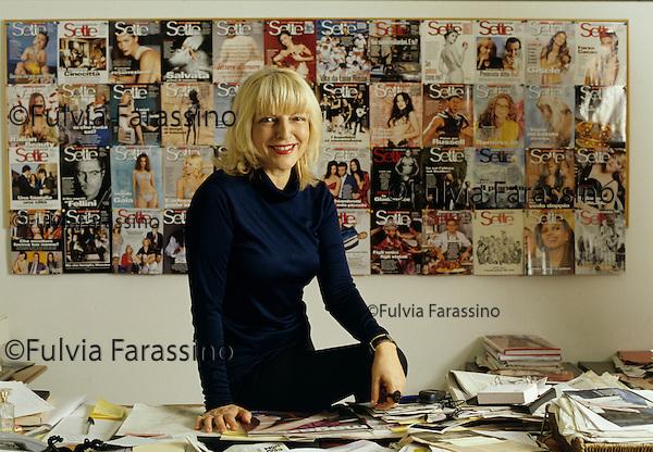 Milano, Maria Luisa Agnese nella redazione di Sette, magazine Corriere della Sera