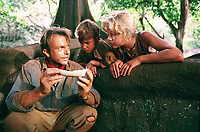 Jurassic Park (1993)<br /> Sam Neill, Joseph Mazzello &amp; Ariana Richards<br /> *Filmstill - Editorial Use Only*<br /> CAP/KFS<br /> Image supplied by Capital Pictures