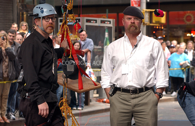 WWW.ACEPIXS.COM . . . . . ....NEW YORK, NEW YORK, MAY 23RD 2005....MythBuster's Adam Savage and Jamie Hyneman at a performance for the Late Show with David Letterman.....Please byline: KRISTIN CALLAHAN - ACE PICTURES.. . . . . . ..Ace Pictures, Inc:  ..Craig Ashby (212) 243-8787..e-mail: picturedesk@acepixs.com..web: http://www.acepixs.com